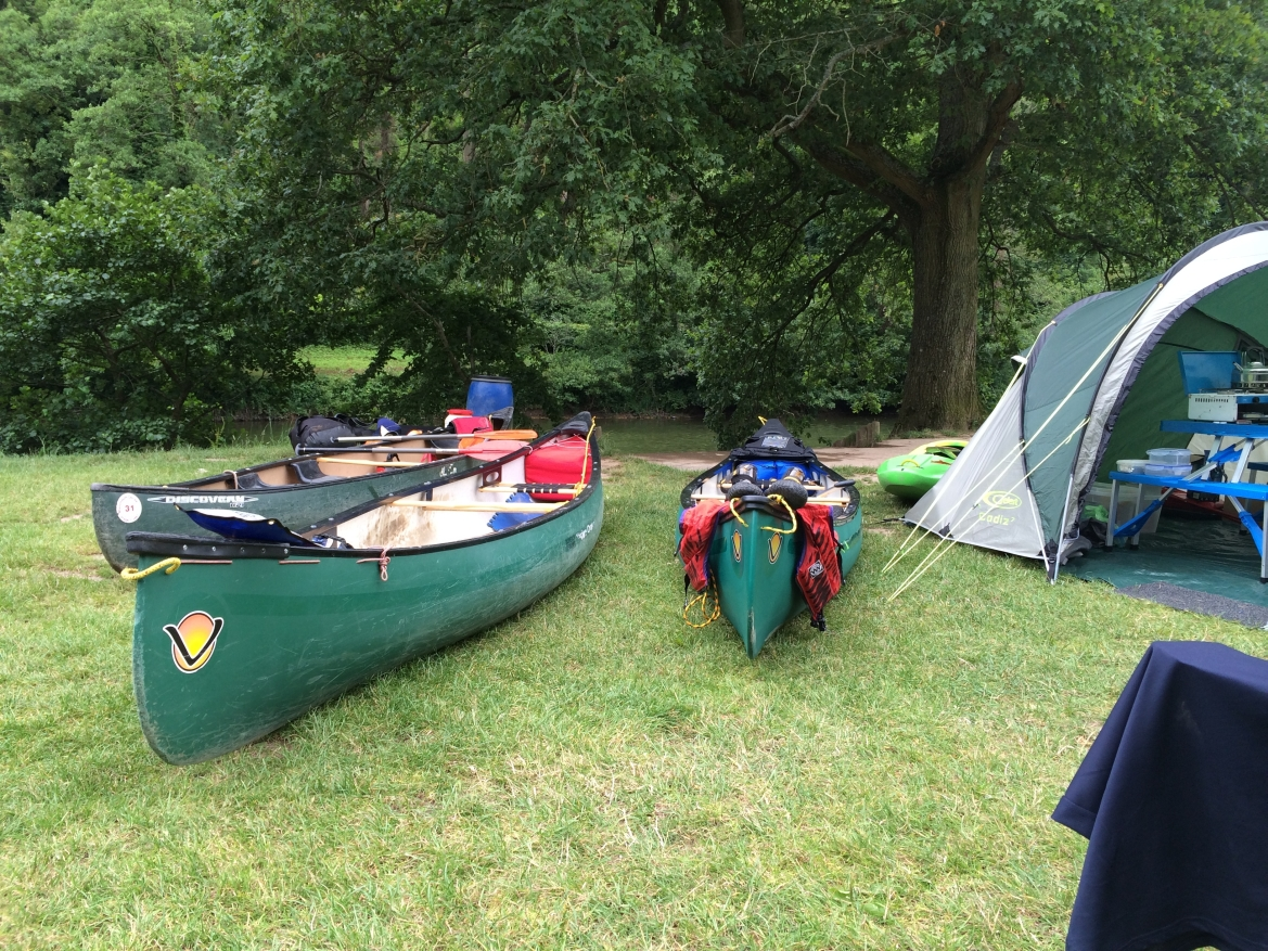 canoeing camping river wye fishing
