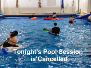Cancelled – Block 4 Pool Session