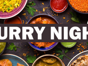 Curry Night, Friday 2nd November