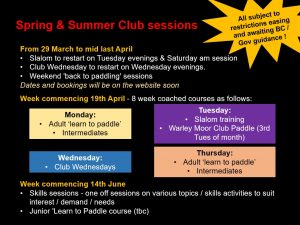 Spring and Summer Paddling Plans